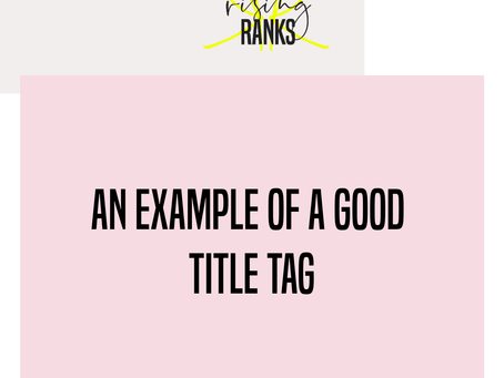 An Example of a Good Title Tag