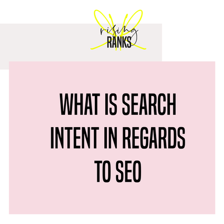 What is search intent when it comes to SEO