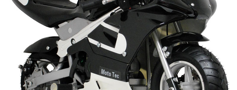MotoTec Gas Pocket Bike 33cc 2-Stroke Black
