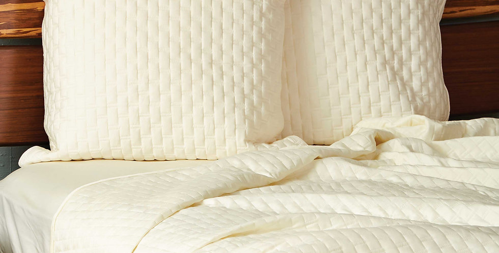 Bamboo Quilted Euro Sham - Made of Rayon Viscose from Bamboo