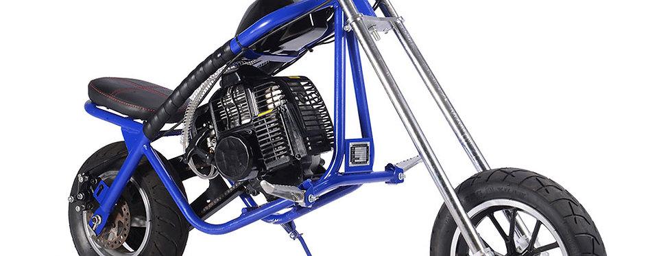MotoTec 49cc Gas Mini Chopper Blue
