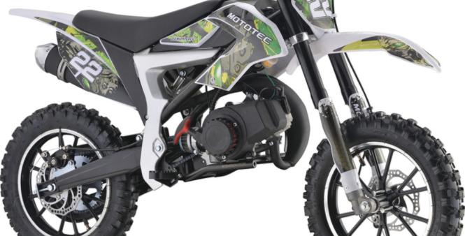 MotoTec 50cc Demon Kids Gas Dirt Bike Green