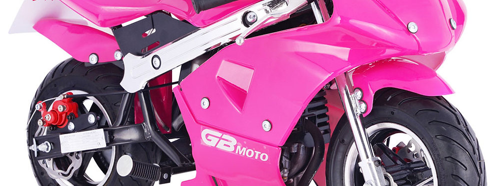 MotoTec GBmoto Gas Pocket Bike 40cc 4-Stroke Pink