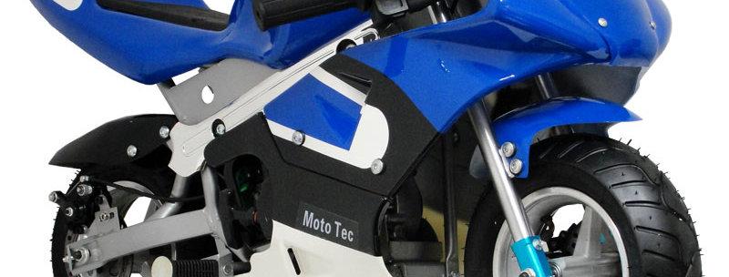 MotoTec Gas Pocket Bike 33cc 2-Stroke Blue