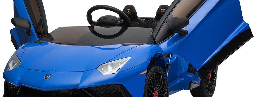 Mini Moto Lamborghini 12v Blue (2.4ghz RC)