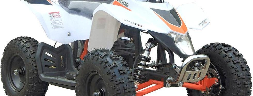 MotoTec 24v Kids ATV v3 White