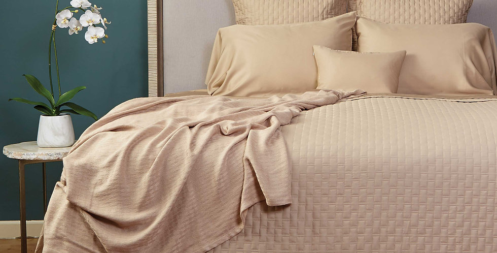 Bamboo Quilted Coverlet - Made of Rayon Viscose from Bamboo