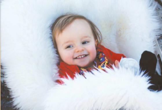 Long Wool Lamb Skin Baby Cocoon by Bowron