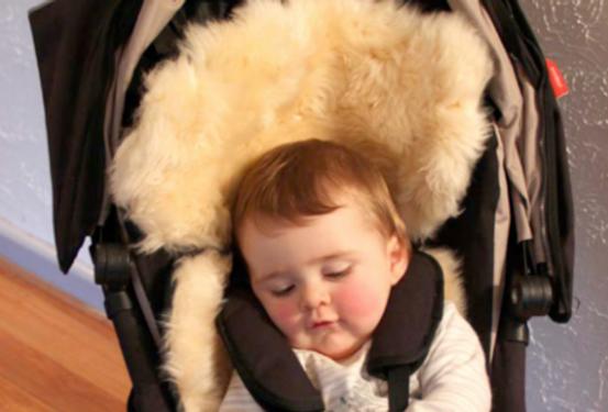 JOGGERFLEECE - Shortwool & Longwool Adjustable Lambskin Stroller Comforter