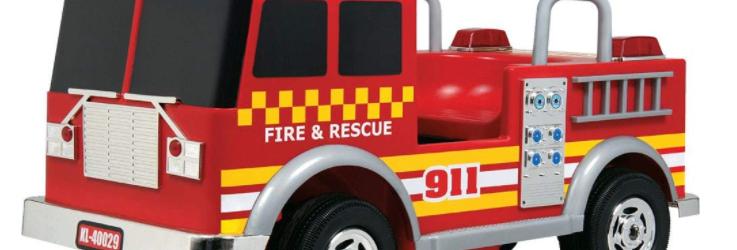 MotoTec Kalee Fire Truck 12v Red