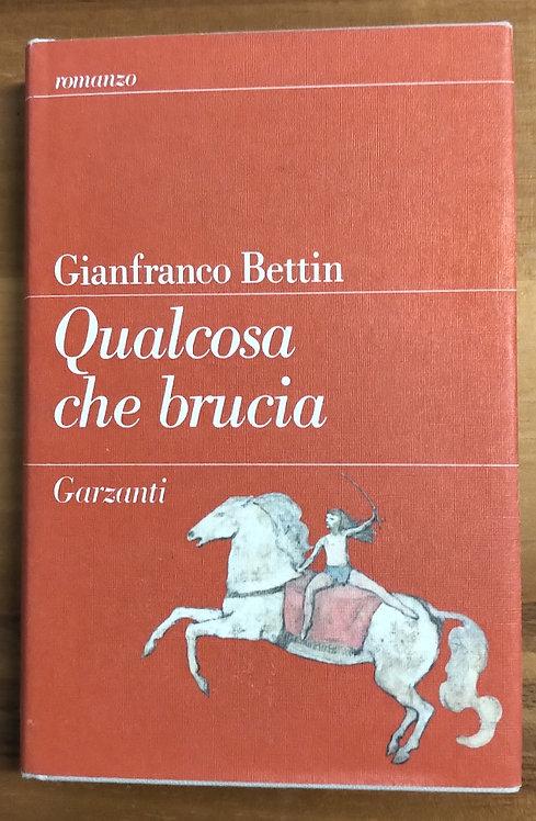 Qualcosa che brucia - Gianfranco Bettin