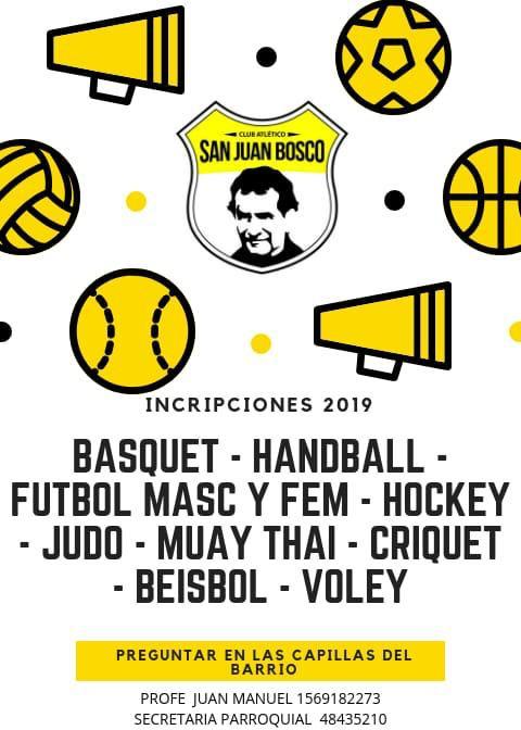Folleto Actividades Club San Juan Bosco.