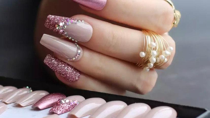 Press Nails ROSE
