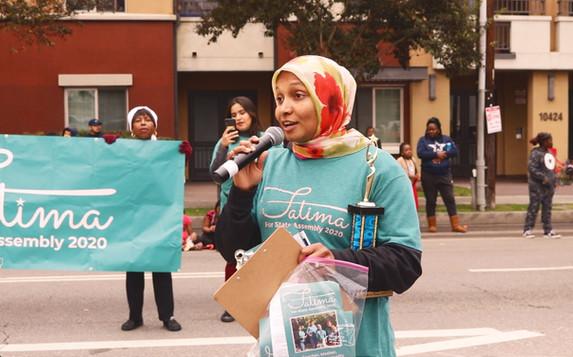 Fatima at the Watts Parade