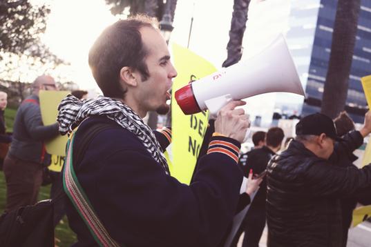 Feinstein GND Protest