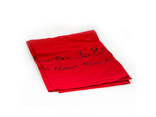 Linga Bhairavi Cotton Devi Shawl - Thin, Black Writing (Can not be shipped)