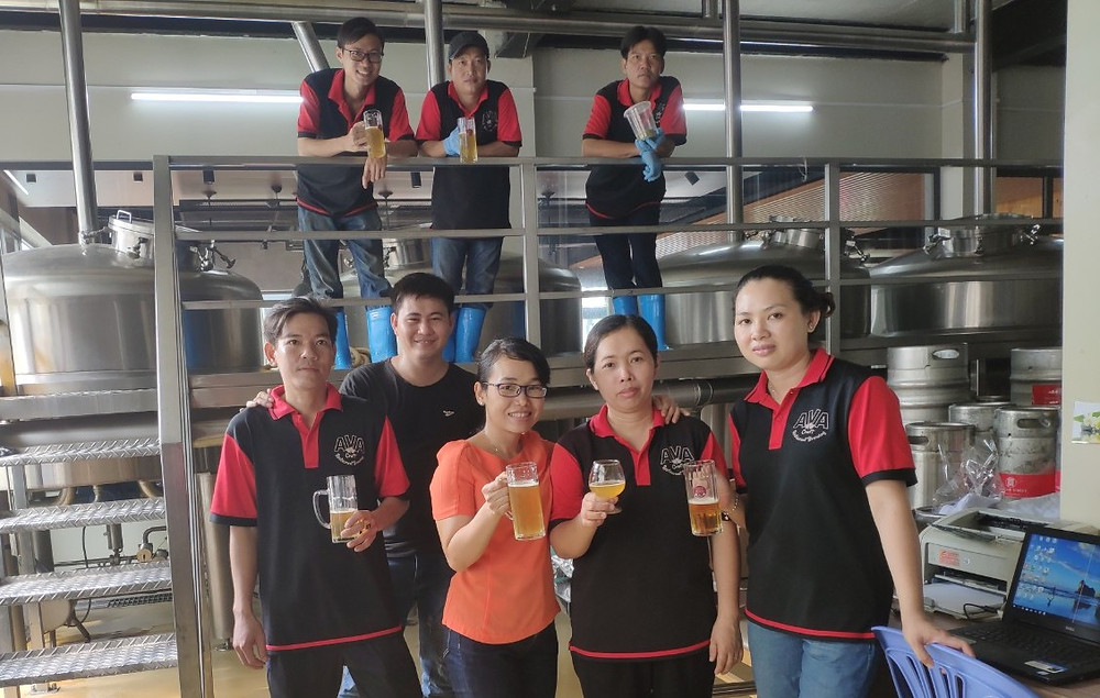 Vu Phuong and team at AVA in Ho CHi MInh have taken pay reductions to avoid layoffs' during the downturn