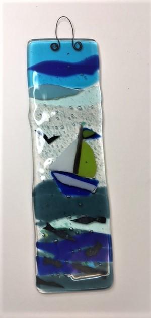 beginners fused glass light catcher