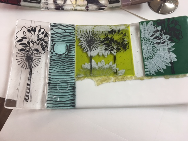 Fused Glass and Screen Printing
