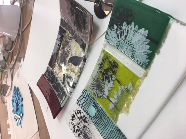Screen Printing and Fused Glass