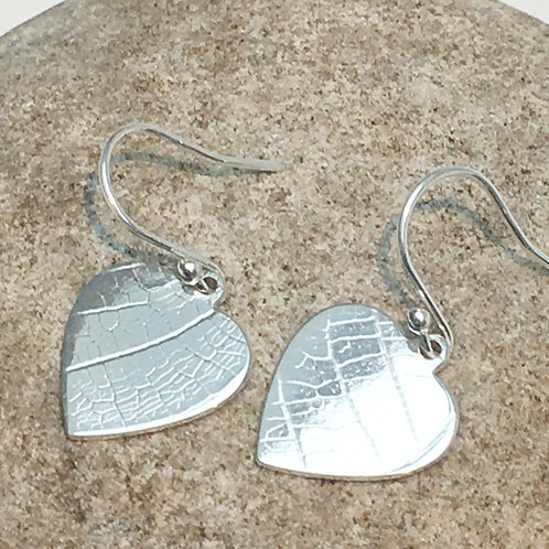 Sterling Silver Heart Shaped Earrings