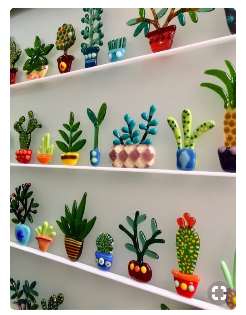 fused glass cacti for beginners