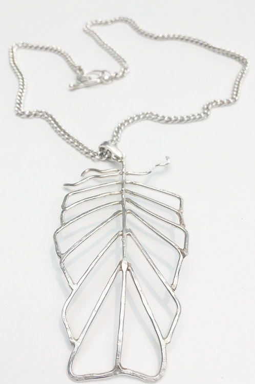 Sterling Silver Feather design Pendant and Chain