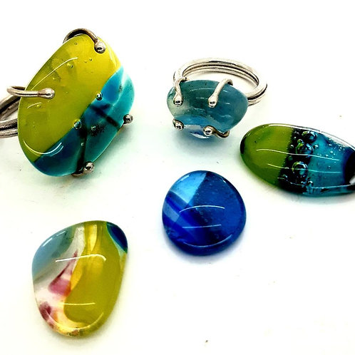 FUSED GLASS AND SEA GLASS - SILVER JEWELLERY MAKING DAY  -SAT 4 JULY