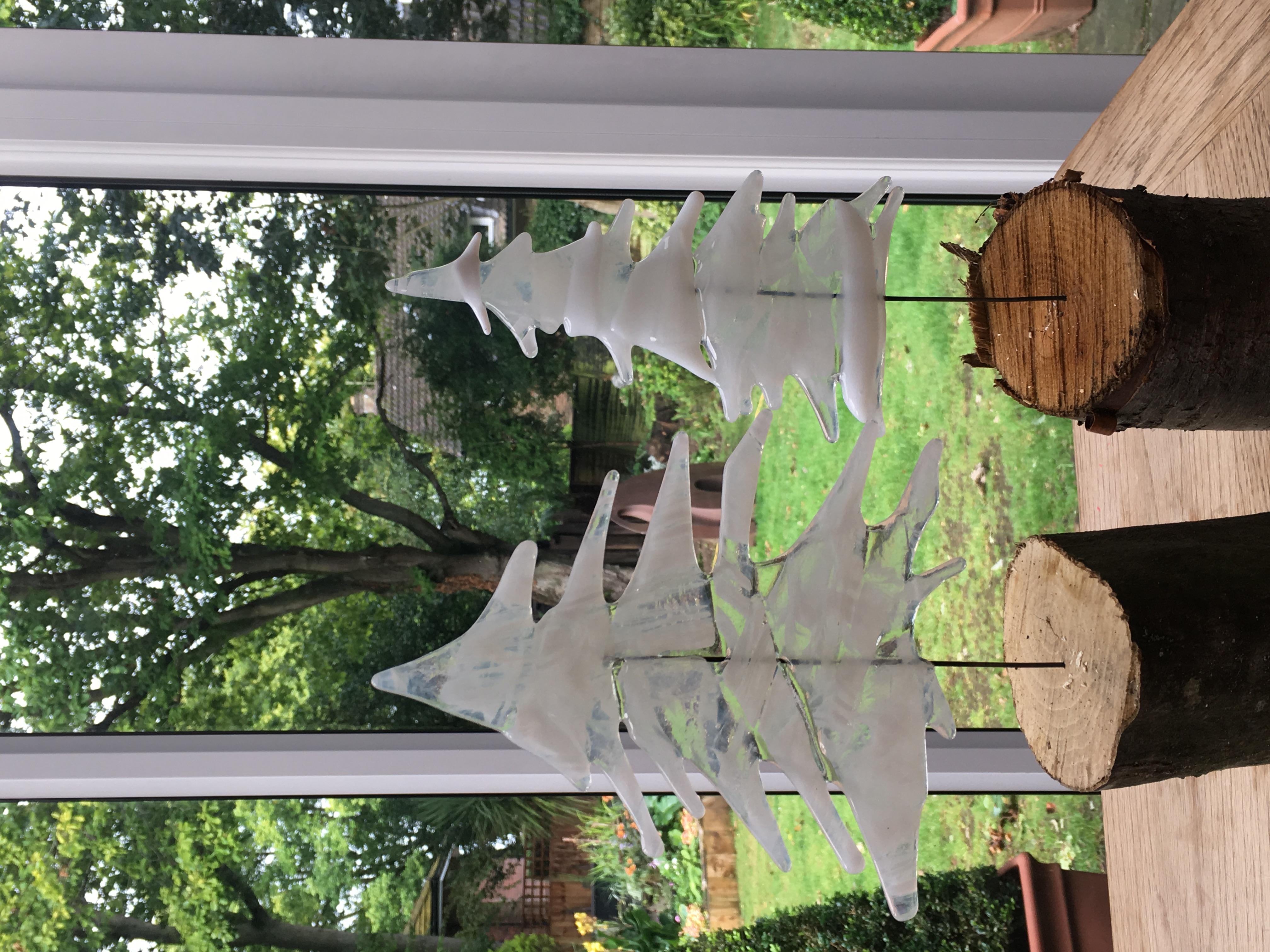 Christmas Tree Fused Glass Decoratio