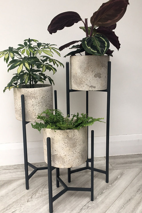 Planter/Pot Stands Nest of 3 in Steel