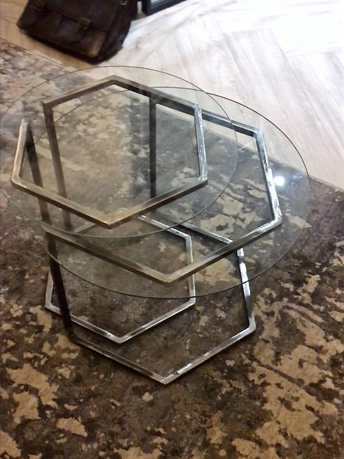 Hexagon Coffee Table Set of Two