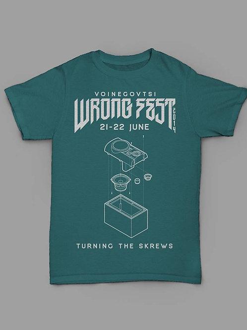 Wrong Fest 2016 t-shirt