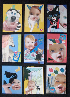 With Donn Davis: Baby Thanks Collages 19 through 27 2009
