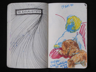 Art Library Sketchbook (So Exhausted) 2011