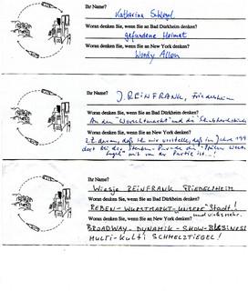 Eine Flasche Geht Auf Reisen, B.D.-N.Y.-B.D. - 1998