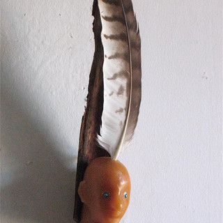Mini Wax-Feather-Wood Head 2010