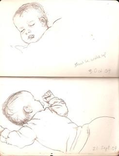 Sketchbook 21 Sept. and 3 Oct. 2009