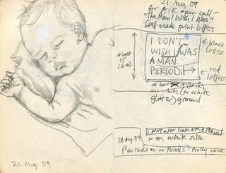 Sketchbook 20 & 21 Aug. 2009