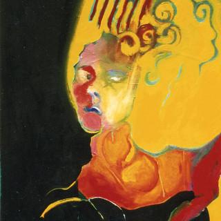 Selbstportrait in Abwehrhaltung 1992