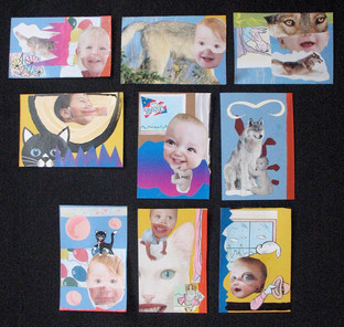 With Donn Davis: Baby Thanks Collages 10 through 18 2009