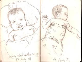 Sketchbook 13 & 14 Aug. 2009