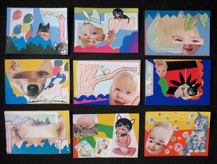 With Donn Davis: Baby Thanks Collages 1 through 9 2009