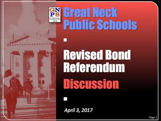 Revised Bond Referendum Presentation