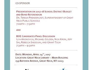 Meet the BOE Candidates - Mon., April 24