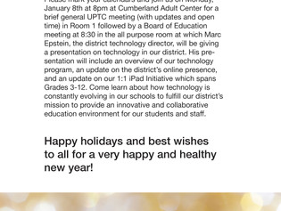 January 8th UPTC and BOE Meeting