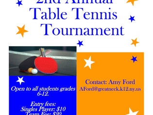 Table Tennis Tournament March 26