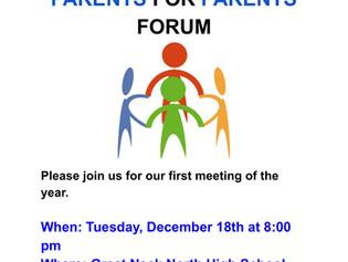 Parents For Parents Forum