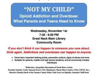 11/1 Opioid Forum Flyer for Distribution