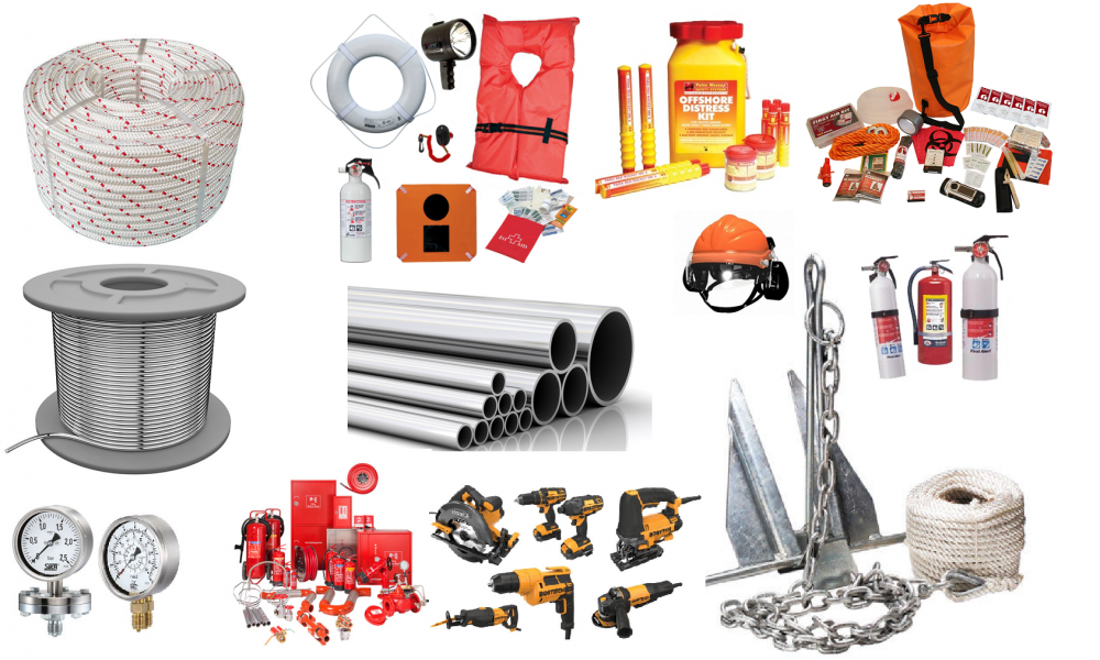 We supply marine stores, spares