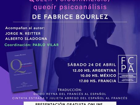PRESENTACIÓN DEL LIBRO DE FABRICE BOURLEZ